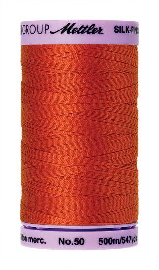 Mettler Silk-finish Cotton 50W 0450 Paprika 500m Spool