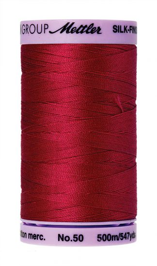 Mettler Silk-finish Cotton 50W 0504 Country Red 500m Spool