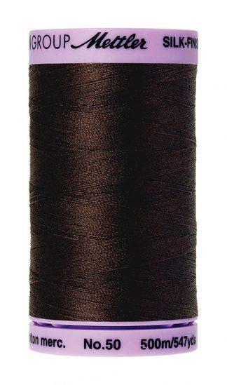 Mettler Silk-finish Cotton 50W 1382 Black Peppercorn 500m Spool