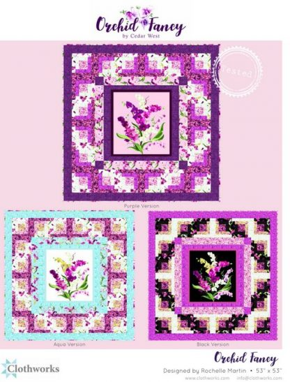 Orchid Fancy Free Pattern designed by Rochelle Martin