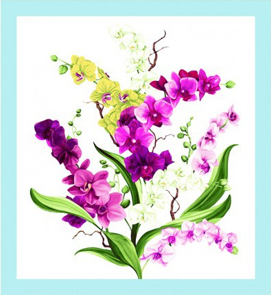 Orchid Fancy Panel Y2945-1 White
