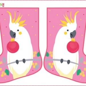 Festive Friends Stocking – Cockatoo
