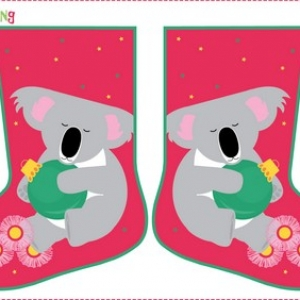 Festive Friends Stocking – Koala